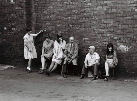 Workers on a break at the Protector Lamp and Lighting Company Eccles. Credit: George Shepherd