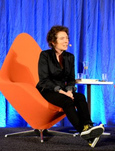 Jeanette Winterson. author of Oranges Are Not The Only Fruit. Photo credit: Malmö Stadsbibliotek on Flickr - https://www.flickr.com/photos/malmostadsbibliotek/7999675767