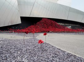 The Imperial War Museum's poppies. Image Credits © Copyright David Dixon and licensed for reuse under this Creative Commons Licence.
