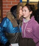 Saffron and Mum After Release From Swinton Police Station