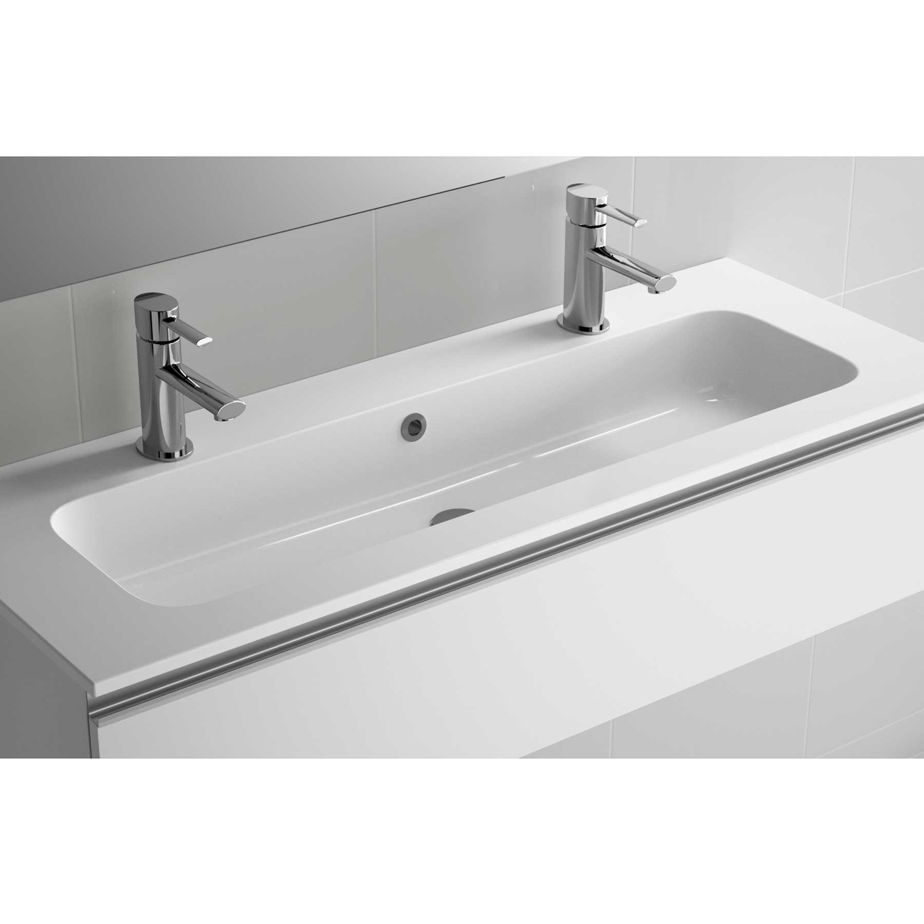 basin sofia 1205 1 sink and 2 taps mineralmarmo 1205 x 15 x 460 mm