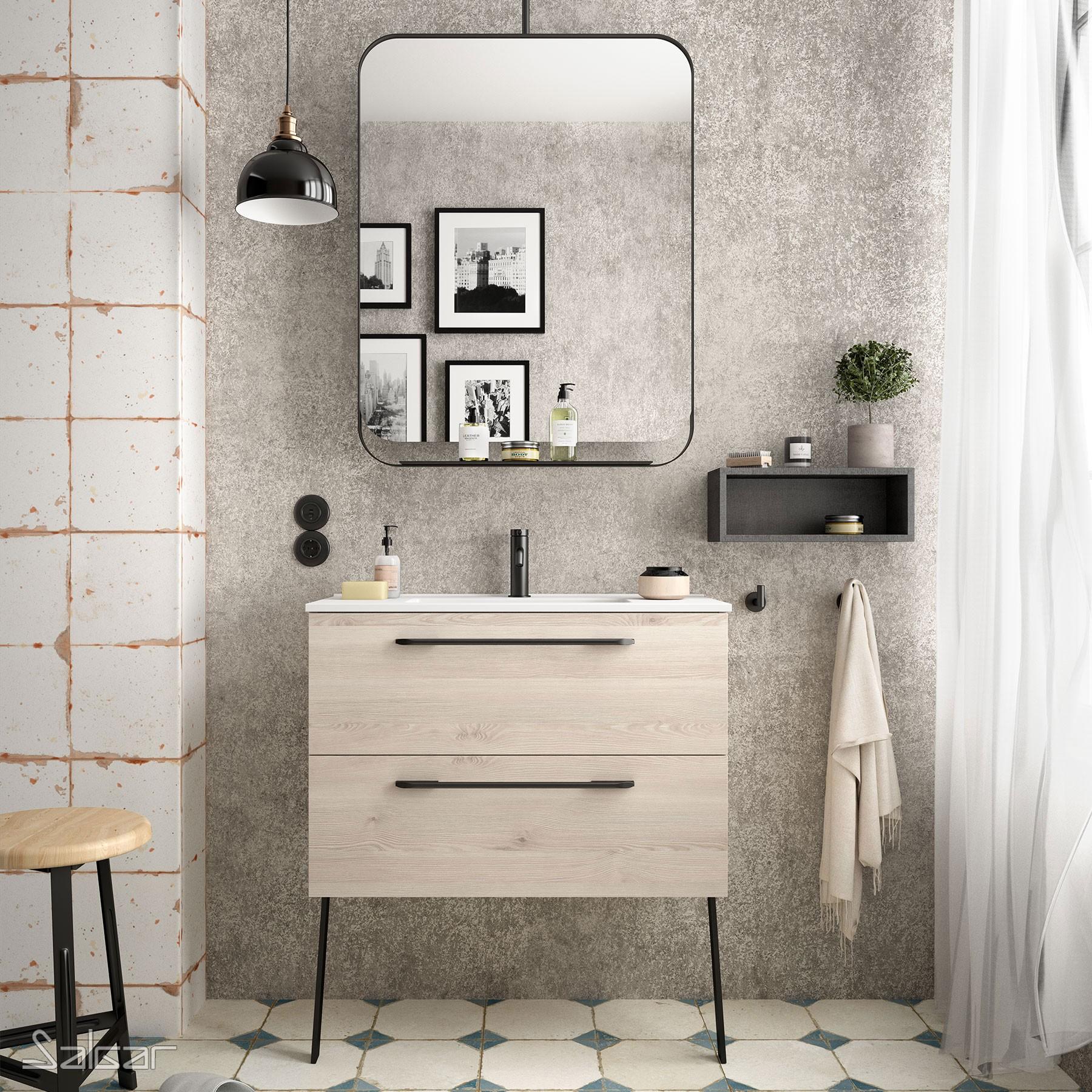 meuble s35 600 2 tiroirs chene naturel 598 x 540 x 346 mm