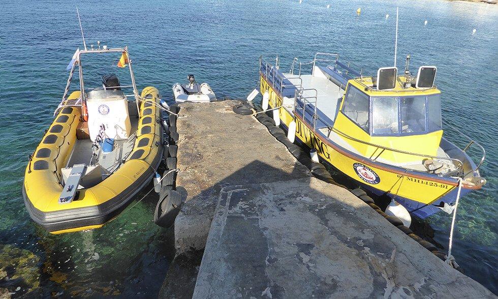 Unsere Boote | S'Algar Diving Menorca