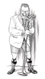 Danny Dee - burlesque performer billing portrait