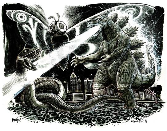 Kaiju monster fight!