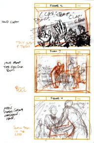 The first few pages of storyboards done for the project.