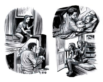 YA romance book illustration