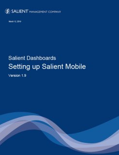 Setting Up Salient Mobile 1.9