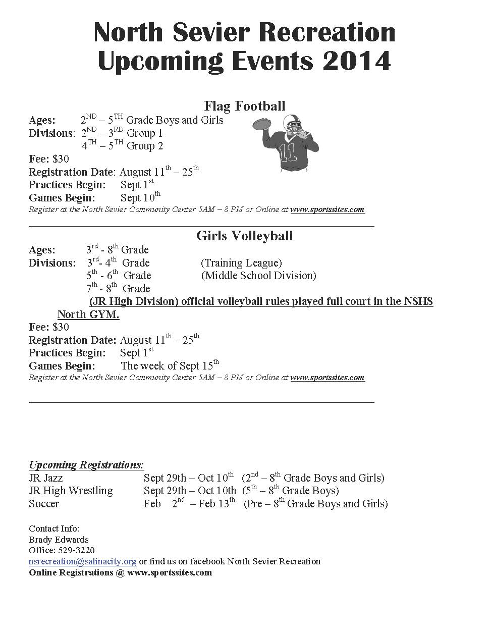 flag football volleyball 2014