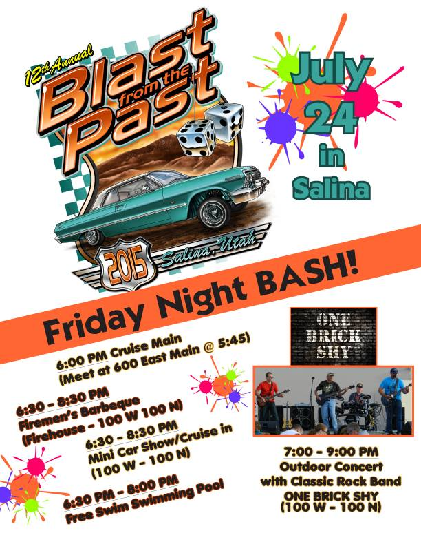 2015 Blast from the Past Car Show in Salina Utah July 24-25