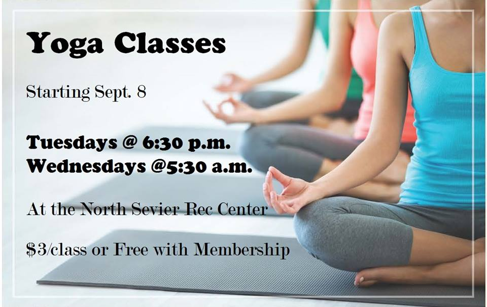 Yoga Classes at North Sevier Recreation Center