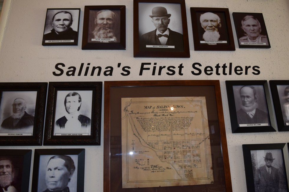 A Huge Wall of Photos Showcasing The First Settlers of Salina Utah
