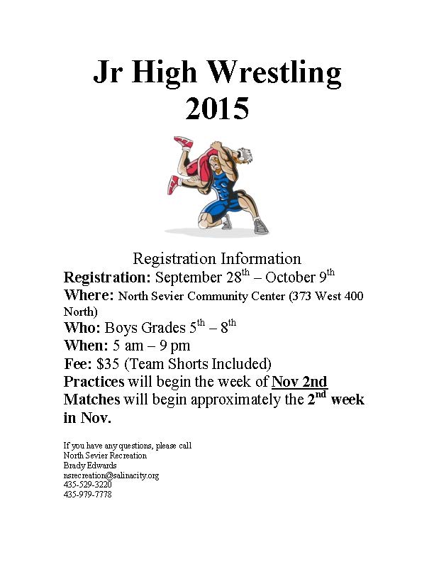 Jr high wrestling