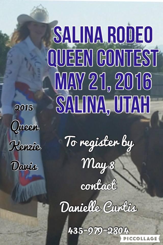 Salina Utah Rodeo Queen Contest May 21st 2016