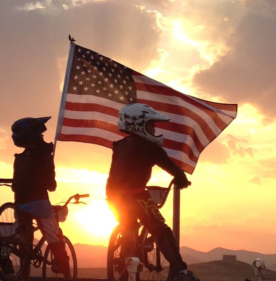 Flag BMX Sunset