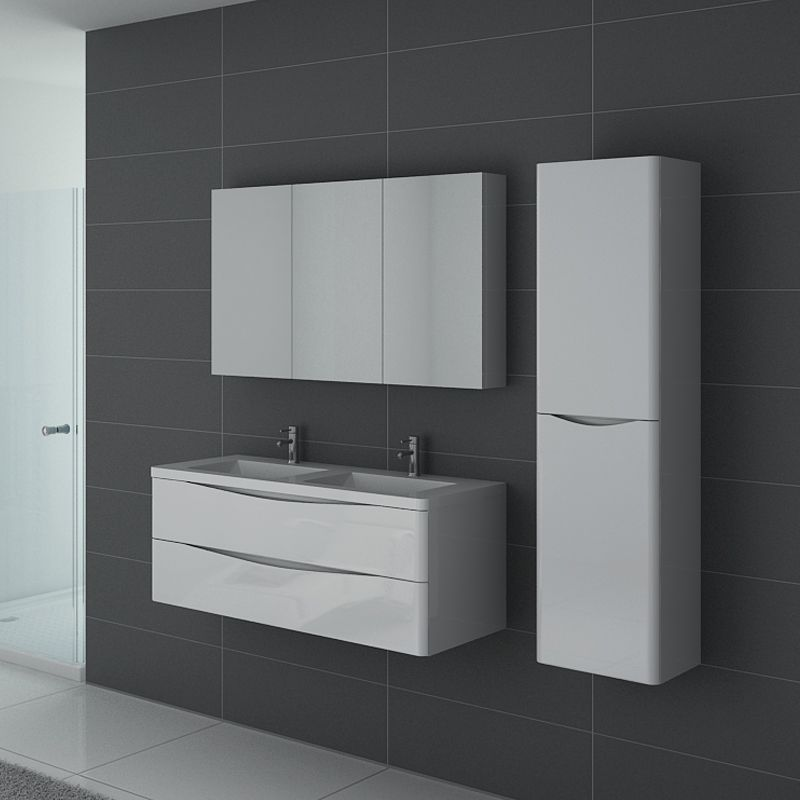 meuble salle de bain trevise 1200 blanc
