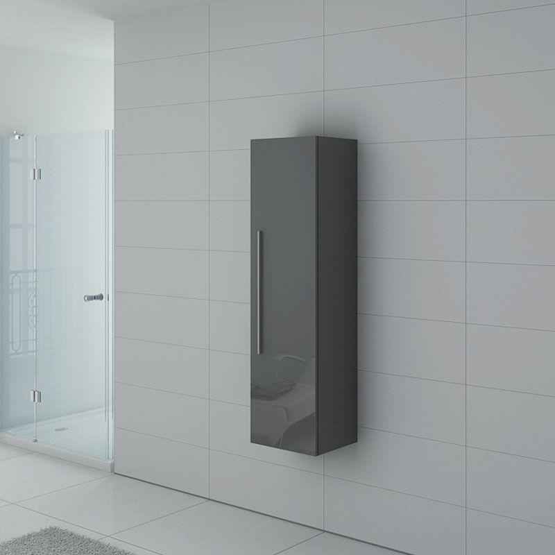 meuble colonne pal150gt salle de bain gris taupe