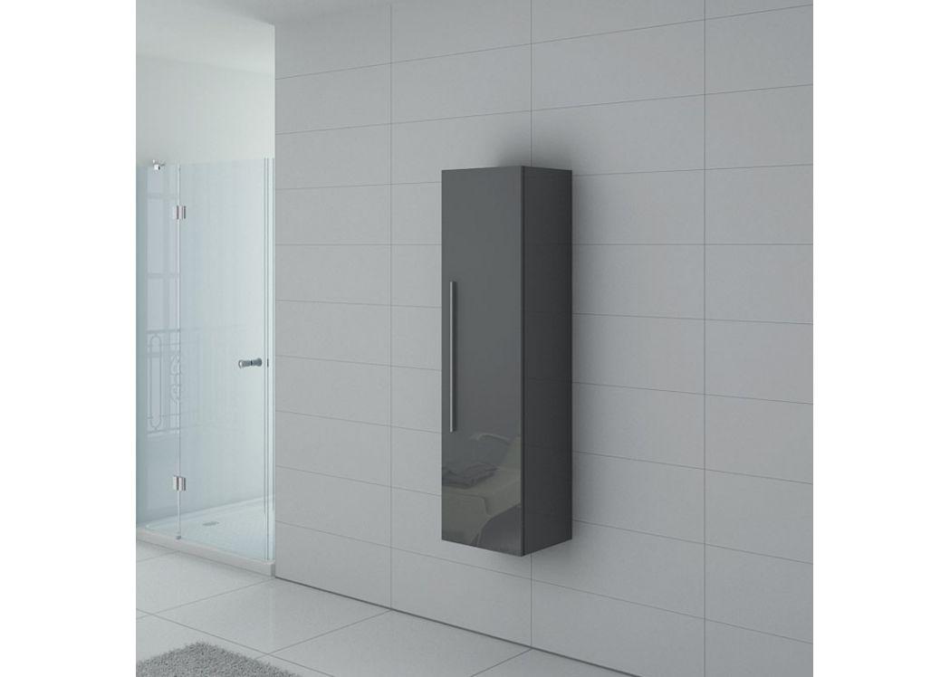 colonne de salle de bain gris taupe