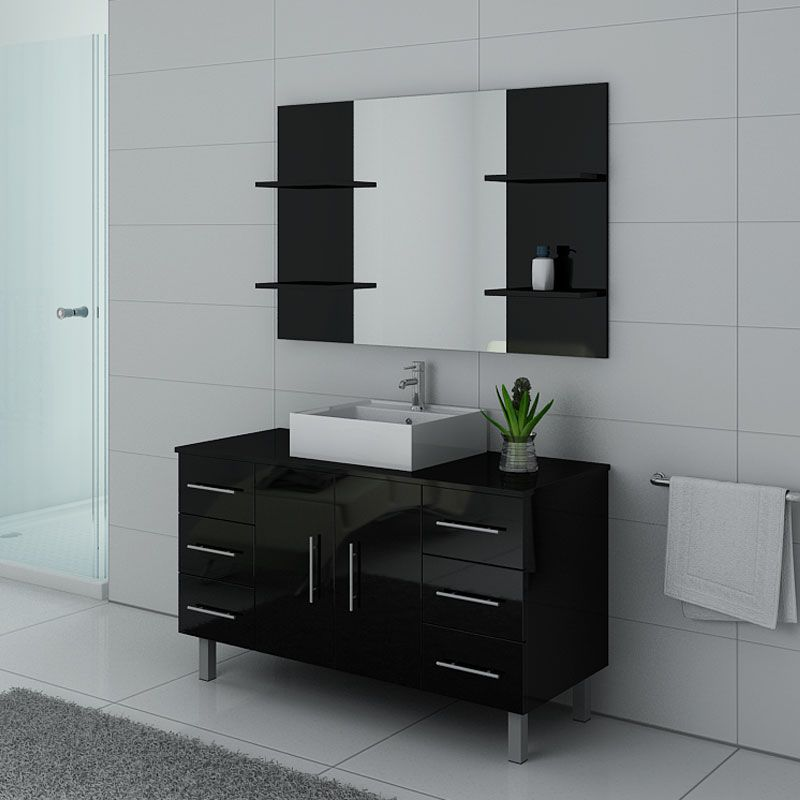 meubles salle de bain turin noir