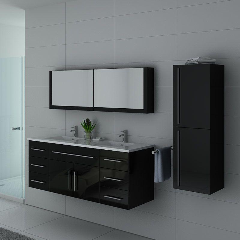 meubles salle de bain dis749n noir