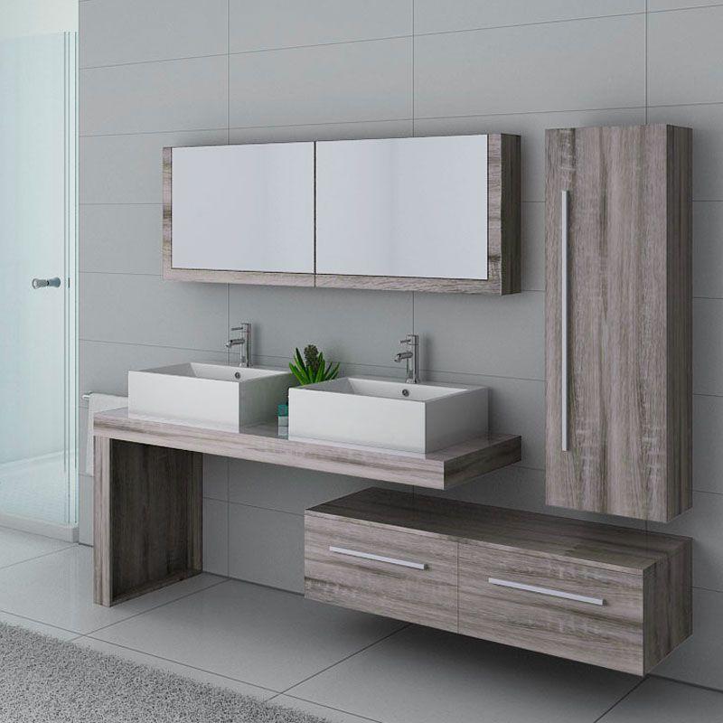 meubles salle de bain dis9350cg chene gris