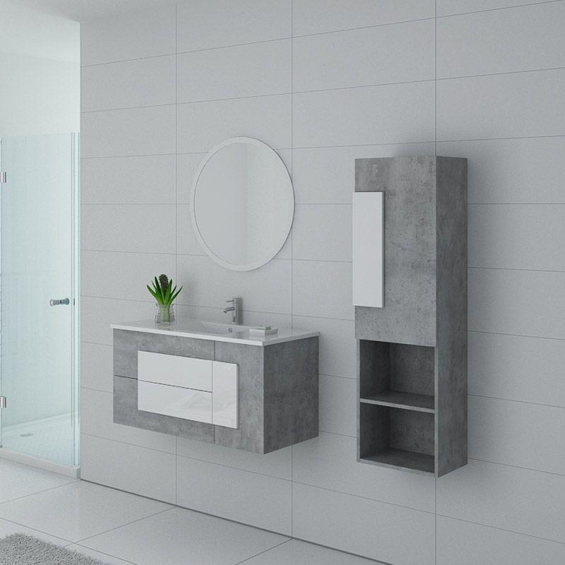 meuble de salle de bain gris beton et blanc meuble de salle de bain original 100 cm castello