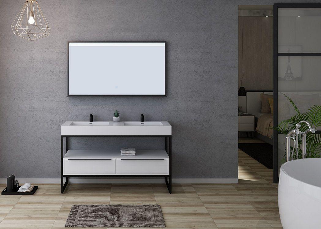 salle de bain style industriel 140 cm