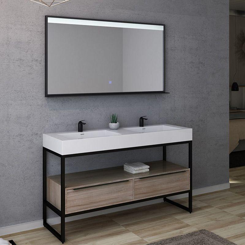 meuble salle de bain lamezia 1400 scandinave