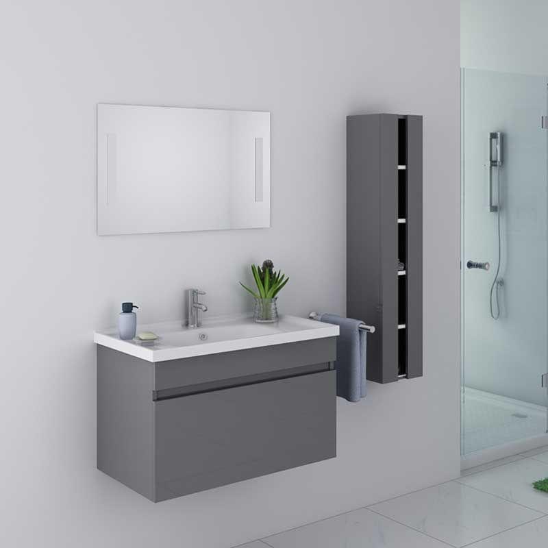 meuble salle de bain dis800agt gris taupe