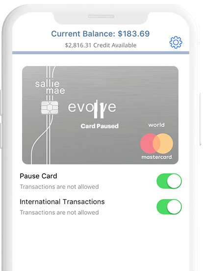 You earn 1% back on all your other expenses, such as shopping, dining, insurance payments, travel costs and so much more. Sallie Mae Evolve A Cash Back Credit Card That Adapts To You