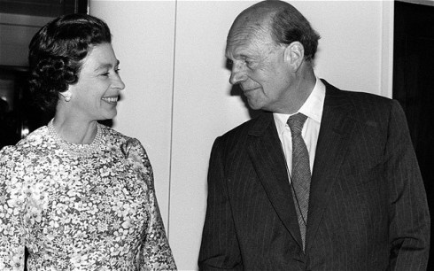 Queen Elizabeth II with Lord Charteris