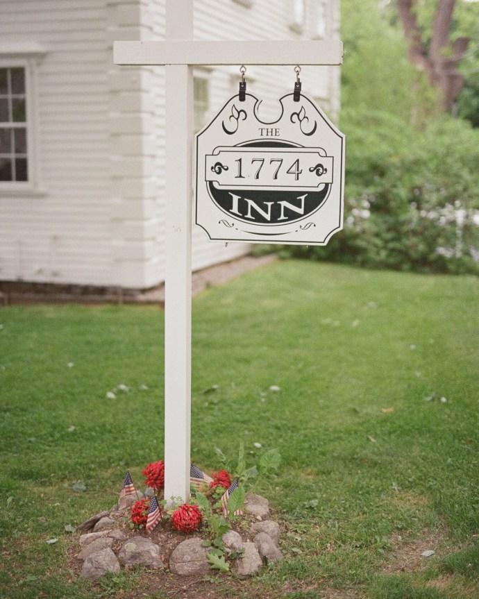 1774 Inn Bed & Breakfast entrance sign