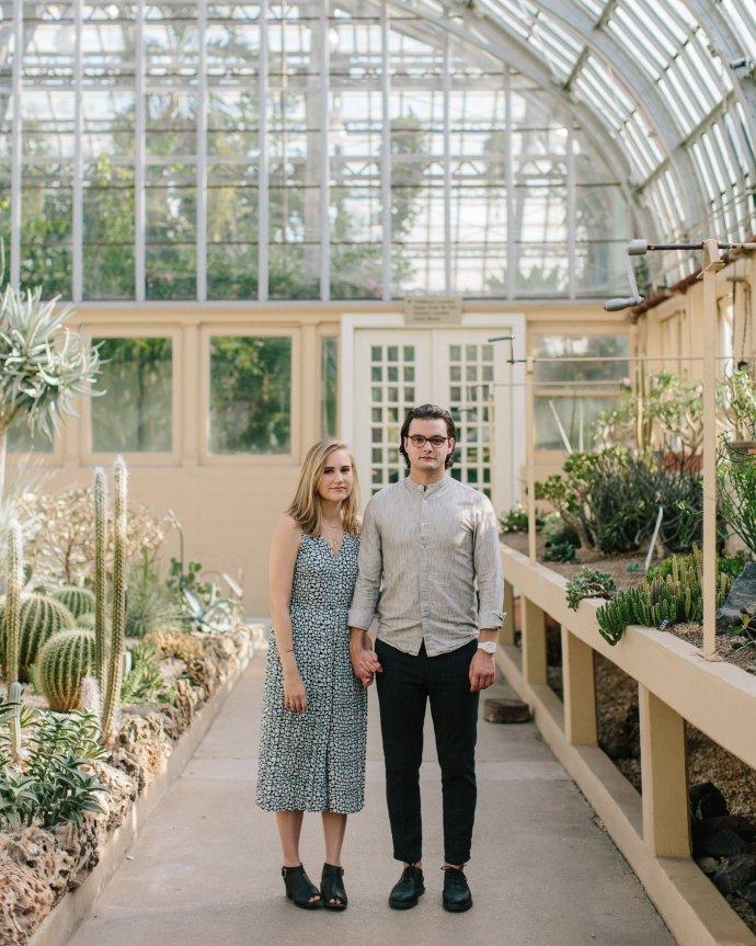 Engagement Photos at the Garfield Park Conservatory