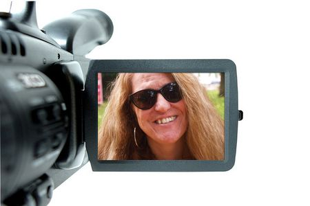 Sally and the video camera
