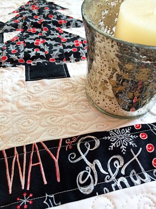 Chalkboard Christmas Table Topper 2