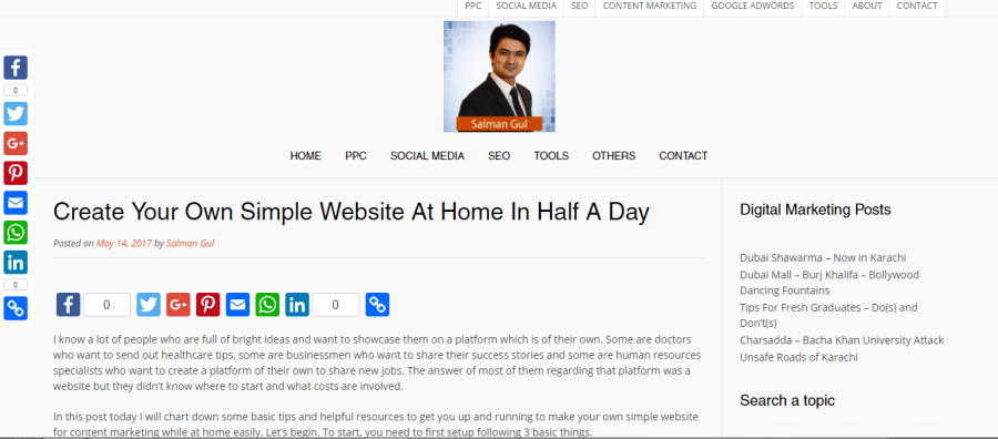 Create Your Own Simple Website At Home