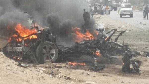 انفجار سيارة مفخخة بنقطة أمنية بلودر وأنباء عن سقوط ضحايا