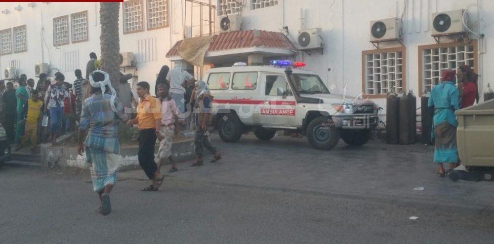 مصادر طبية : وصول جثث شهداء وجرحى من مواجهات باب المندب إلى مستشفى الجمهورية بعدن