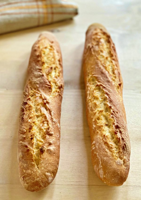 A super easy recipe for making the famous crunchy French baguette at home