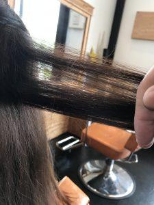エイジングによる切れ毛