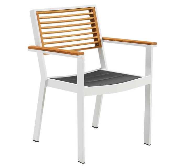 chaise de jardin aluminium sainte lucie blanc
