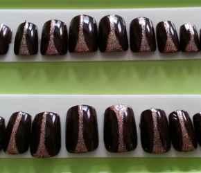Custom-designed Gelish nail tips created by Paula Knight-Osborne