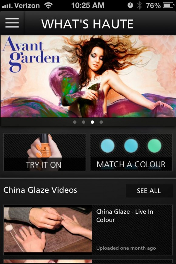 China Glaze iPhone app