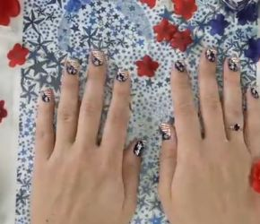 Fourth of July nail art tutorial