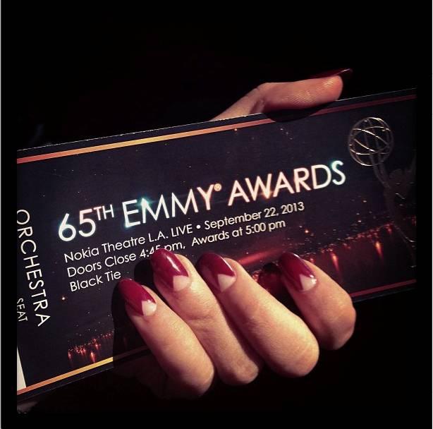 Sarah Hyland_Red Carpet Manicure_Emmys 2013
