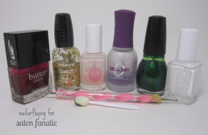 christmas-gradient-nails-supplies