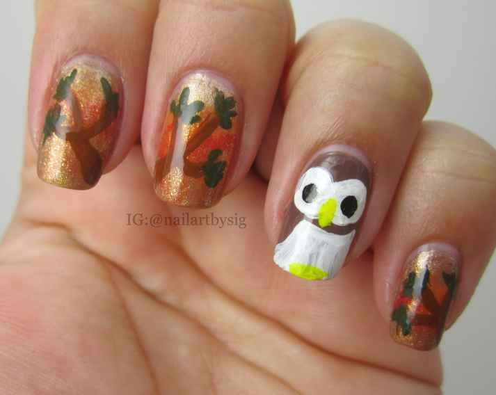 Fall-Owl-Manicure