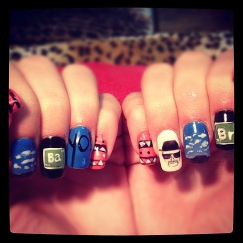 Breakng Bad nail art