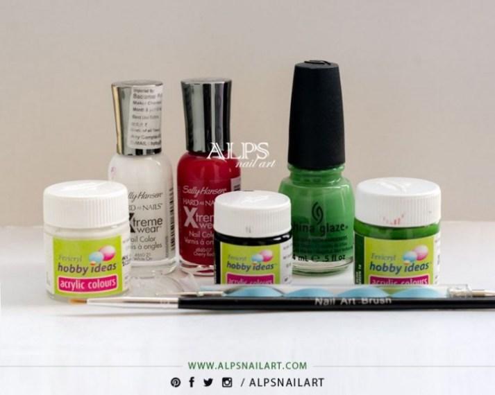watermelon-nail-art-supplies