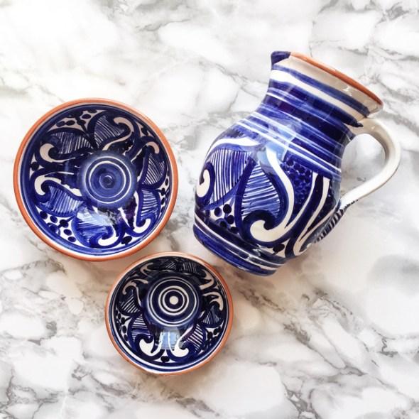 Casa Cubista Portugal Keramik Colheita blau